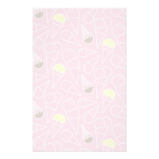 Summer Ice Cream Pattern Personalised Stationery