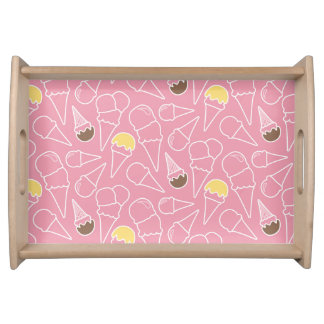 Summer Ice Cream Pattern Serving Tray