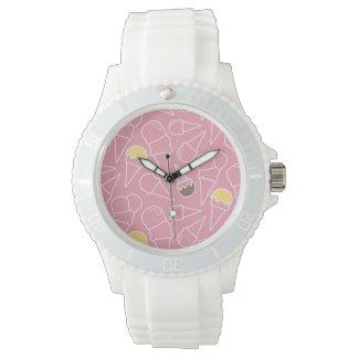 Summer Ice Cream Pattern Watch