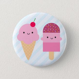 Summer Ice Cream Treats 6 Cm Round Badge