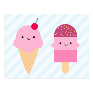 Summer Ice Cream Treats Postcard