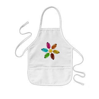 Summer ice cream with a smiling sun kids apron