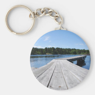 Summer idyll on a lonely Swedish fjord Key Chains