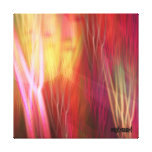 Summer impression, artistic abstract gallery wrapped canvas