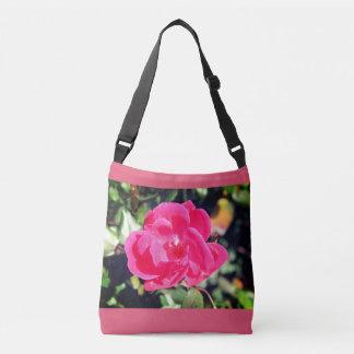 Summer in bloom beautiful pink flower tote. crossbody bag