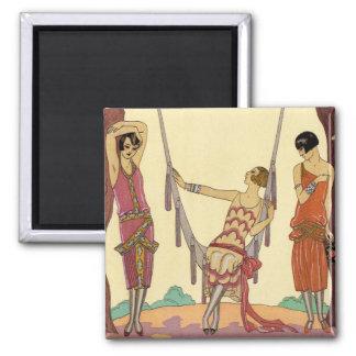 Summer in France Art Deco Magnet