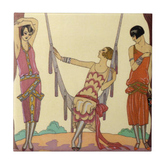 Summer in France Art Deco Tile