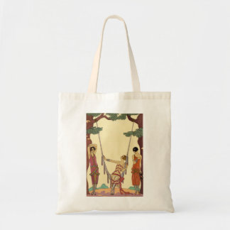Summer in France Art Deco Tote Bag