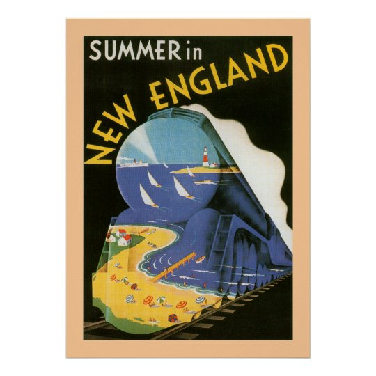Summer In New England Poster