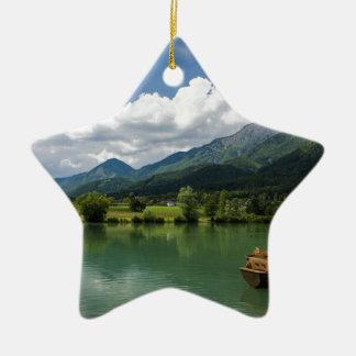 Summer in Preddvor Ceramic Star Decoration