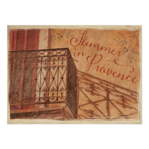 Summer in Provence Country French Vintage Poster