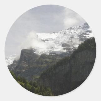 Summer in Switzerland Round Sticker