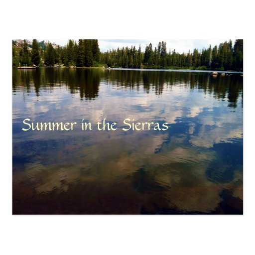 Summer in the Sierras Post Card