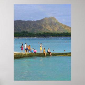 Summer in Waikiki Poster
