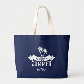 Summer is calling! Adventure Time. Large Tote Bag