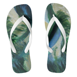 Summer is here Custom Adult, Wide Straps Flip Flops