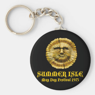 Summer Isle May Day Festival Basic Round Button Key Ring