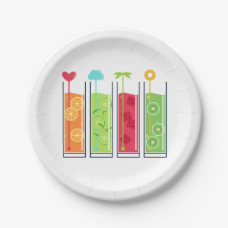 Summer Juices paper plates