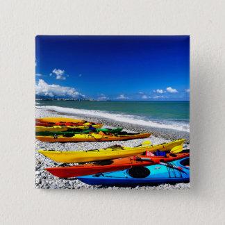 Summer Kayaking 15 Cm Square Badge