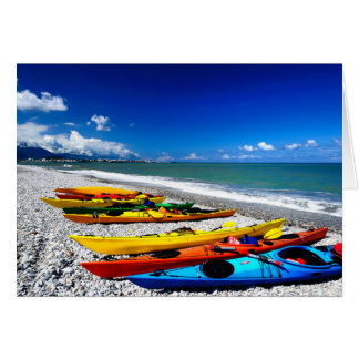 Summer Kayaking Greeting Card
