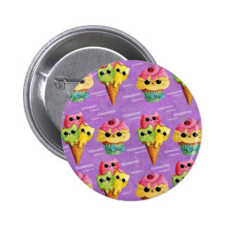 Summer Kitty Cats Madness 6 Cm Round Badge