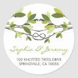 Summer Knotted Love Trees Address Labels Stickers