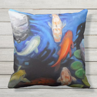 Summer Koi Large Outdoor Pillows