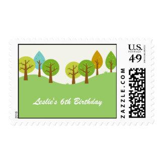Summer Landscape Custom Postage Stamp