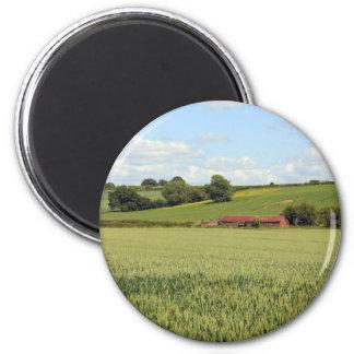summer landscape 6 cm round magnet