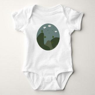 Summer landscape personalised baby bodysuit
