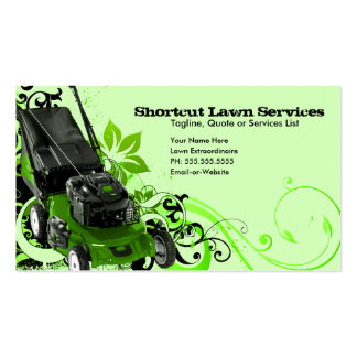 summer lawn services business card template