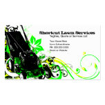 summer lawn services business card templates