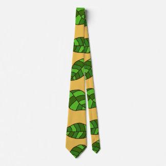 Summer Leaves adjustable Green Leaf Pattern Tie