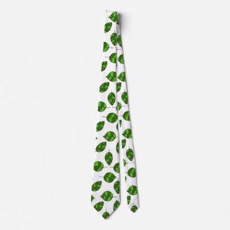 Summer Leaves adjustable Green Leaf Tight Pattern Tie