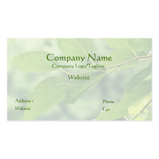 'Summer Leaves with Raindrops' Business Card