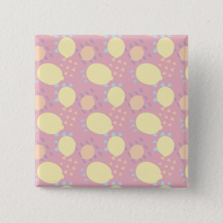 Summer Lemon Blast 15 Cm Square Badge