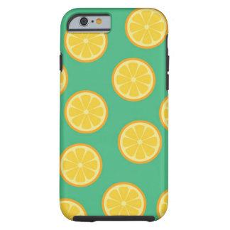Summer lemon pattern Case-Mate Tough iPhone 6 Case