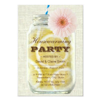 Summer Lemonade Housewarming Party Card