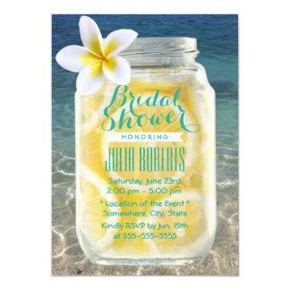 Summer Lemonade Mason Jar Beach Bridal Shower Card