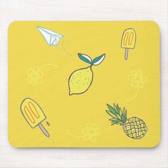 Summer Lemony Goodness Mouse Mat