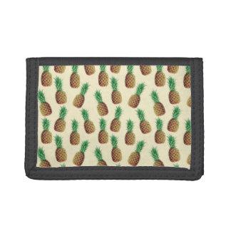 Summer Light Beige Pineapple Pattern Tri-fold Wallets