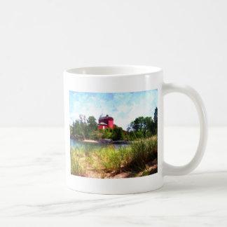 Summer Lighthouse Basic White Mug