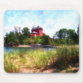 Summer Lighthouse Mouse Pad