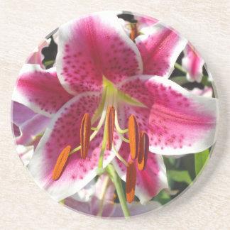 Summer Lily Beverage Coaster
