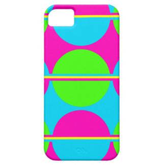 Summer Lime Green Hot Pink Teal Circles Stripes iPhone 5 Covers