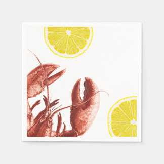 Summer Lobster Boil Party Disposable Serviette