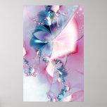 Summer Love - Fractal Flower Shape Poster
