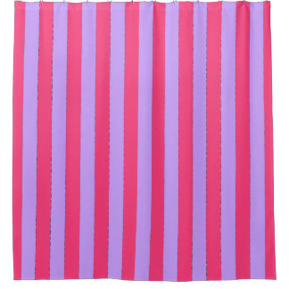 "'Summer-Love_ Hot Coral-Lavender-Shower-Curtain"" Shower Curtain"