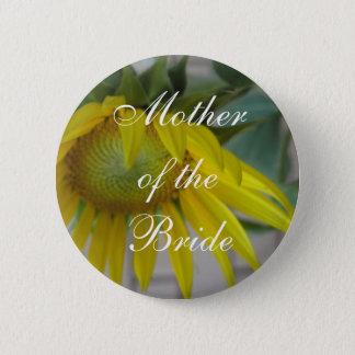 Summer Love Sunflower 6 Cm Round Badge