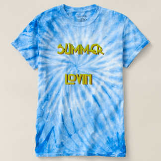 Summer Lovin' Mens Cyclone Tie-Dye T-Shirt in Blue